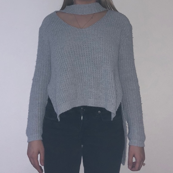 9ccacbf792563 Boohoo Sweaters | Knitted Choker Neck Sweater | Poshmark